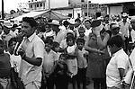 Street magician Managua Nicaragua Central America. 1973.1970s