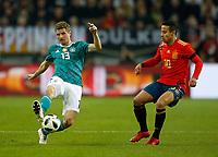 Football International,international friendly, National Team, <br />Germany (GER) - spain  (ESP) 1-1 in Esprit-Arena in Duesseldorf 23. MŠrz  2018<br />Thomas M†LLER (MUELLER) (GER) -  -  and seinem Vereinskameraden THIAGO ALCANTARA (ESP)<br />, Duesseldorf<br /><br /><br /><br /><br /><br /> <br /> *** Local Caption *** © pixathlon<br /> Contact: +49-40-22 63 02 60 , info@pixathlon.de