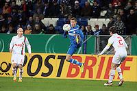 Fabian Johnson (Hoffenheim) gegen Paul Verhaegh (Augsburg)