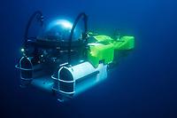 submersible, DEEPSEE, descending to the deep ocean, Cocos Island, Costa Rica, Pacific Ocean