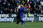 CD Leganes's Ivan Cuellar and Levante UD's Aitor Fernandez during La Liga match between CD Leganes and Levante UD at Butarque Stadium in Leganes, Spain. March 04, 2019. (ALTERPHOTOS/A. Perez Meca)