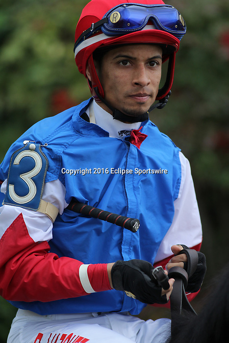HOT SPRINGS, AR - MARCH 12: Jockey Ramon Vazquez aboard She's A Bootsy Too (3) before the running of the Honeybee Stakes at Oaklawn Park on March 12, 2016 in Hot Springs, Arkansas. (Photo by Justin Manning)