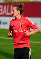 20200911 - TUBIZE , Belgium : Justine Gambosa pictured during a training session of the Belgian Women's National Team, Red Flames , on the 11th of September 2020 in Tubize. PHOTO SEVIL OKTEM  SPORTPIX.BE
