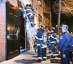 On Tuesday evening, February 10, the Fire Department responded to a smoke alarm from the restaurant 10 Downing Food and Wine (located right under my apartment). For an hour they clomped through the building, unable to find the source. And so they left.  But the smoke increased and within the hour they were back.  This time they found the source - a light bulb recessed into the ceiling of the restaurant's entry foyer had caught fire and ignited some nearby wood. The firemen cut through the top of the door and tore open the ceiling, removing the offending source of the smoke. The evidence, a burned bulb and charred wood were taken away by the Fire Captain.  Everyone's thanks to the Greenwich Village Fire Department, Engine Company 5, Ladder Company 6.