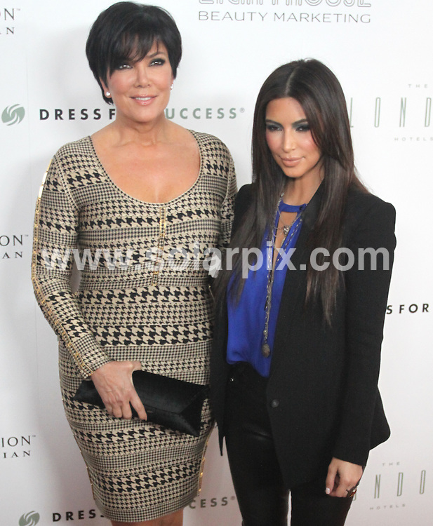 """**ALL ROUND PICTURES FROM SOLARPIX.COM**                                             **SYNDICATION RIGHTS FOR UK, AUSTRALIA, DENMARK, PORTUGAL, S. AFRICA, SPAIN & DUBAI (U.A.E) & ASIA (EXCLUDING JAPAN) ONLY**                                                                                  Caption:  Kim Kardashian """"True Reflection"""" Fragrance Launch Party Benefiting Dress for Success - Arrivals - The London Hotel, 1020 N. San Vicente Boulevard - West Hollywood, CA, USA                                       .This pic: Kris Kardashian and Kim Kardashian                                                                                         JOB REF: 14606       PHZ/Burris       DATE:23.03.2012                                                            **MUST CREDIT SOLARPIX.COM OR DOUBLE FEE WILL BE CHARGED**                                                                      **MUST AGREE FEE BEFORE ONLINE USAGE**                               **CALL US ON: +34 952 811 768 or LOW RATE FROM UK 0844 617 7637**"""