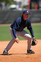 Cleveland Indians minor leaguer Wes Hodges during Spring Training at the Chain of Lakes Complex on March 17, 2007 in Winter Haven, Florida.  (Mike Janes/Four Seam Images)