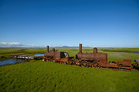 """Train to nowhere"" near Nome, Alaska. Photo by James R. Evans"