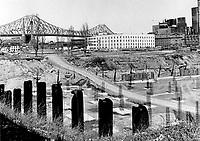 Circa 1967 File Photo of the future site of Radio-Canada headquarters in Montreal est end.