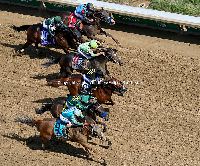 May 1, 2021 : Flagstaff, #4, ridden by jockey Luis Saez, wins the Churchill Downs on Kentucky Derby Day at Churchill Downs on May 1, 2021 in Louisville, Kentucky. John Voorhees/Eclipse Sportswire/CSM