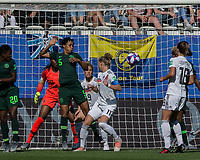 GRENOBLE, FRANCE - JUNE 22: Alexandra Popp #11 of the German National Team corner kick, header score during a game between Panama and Guyana at Stade des Alpes on June 22, 2019 in Grenoble, France.