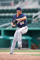 Minnesota Twins pitcher Logan Lombana (22) during an Instructional League game against the Boston Red Sox on September 23, 2016 at JetBlue Park at Fenway South in Fort Myers, Florida.  (Mike Janes/Four Seam Images)