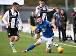 St Mirren v St Johnstone…19.10.19   St Mirren Park   SPFL<br />Matty Kennedy is brought down by Paul McGinn<br />Picture by Graeme Hart.<br />Copyright Perthshire Picture Agency<br />Tel: 01738 623350  Mobile: 07990 594431