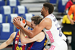 Real Madrid Baloncesto's Edy Tavares (r) and FC Barcelona's Pau Gasol during Liga Endesa ACB 1st Final match. June 13,2021. (ALTERPHOTOS/Acero)