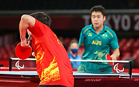 Australia's Men's Table Tennis Team class 9-10 during the Gold Medal Match on day 10 of the 2020 Tokyo Paralympic Games.<br /> Paralympics Australia / Day 10<br /> Tokyo Japan: Friday 3rd Sep 2021<br /> © Sport the library / Greg Smith / PA