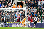Michail Antonio's penalty is saved by Freddie Woodman, before before Tomas Soucek scores from the rebound. Newcastle v West Ham, August 15th 2021. The first game of the season, and the first time fans were allowed into St James Park since the Coronavirus pandemic. 50,673 people watched West Ham come from behind twice to secure a 2-4 win.