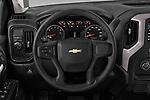 Car pictures of steering wheel view of a 2020 Chevrolet Silverado-1500 WT 4 Door Pick-up Steering Wheel