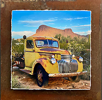 Picture Rocks Chevy - Mixed Media - Arizona<br />