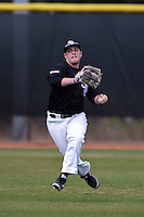 Saint Joseph's Hawks outfielder Ryan Pater (31) during practice before a game against the Indiana Hoosiers on March 7, 2015 at North Charlotte Regional Park in Port Charlotte, Florida.  Indiana defeated Saint Joseph's 3-2.  (Mike Janes/Four Seam Images)