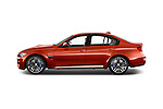 Car Driver side profile view of a2018 BMW M3 4 Door Sedan Side View
