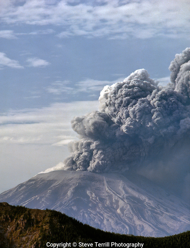 Mt St Helens during May 18 1980 eruption