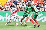 Rayo Vallecano Alex Moreno and Deportivo Alaves Ximo Navarro during La Liga match between Rayo Vallecano and Deportivo Alaves at Estadio de Vallecas in Madrid, Spain. September 22, 2018. (ALTERPHOTOS/Borja B.Hojas)