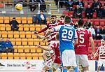 St Johnstone v Hamilton Accies…23.09.17…  McDiarmid Park… SPFL<br />Murray Davidson heads in saints second goal<br />Picture by Graeme Hart. <br />Copyright Perthshire Picture Agency<br />Tel: 01738 623350  Mobile: 07990 594431