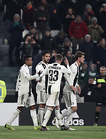 Calcio, Serie A: Juventus - Chievo Verona, Turin, Allianz Stadium, January 21, 2019.<br /> Juventus' Emre Can celebrates after scoring with his teammates during the Italian Serie A football match between Juventus and Chievo Verona at Torino's Allianz stadium, January 21, 2019.<br /> UPDATE IMAGES PRESS/Isabella Bonotto
