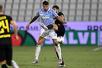 Andrea Petagna of SPAL and Andrea Ranocchia of FC Internazionale compete for the ball during the Serie A football match between SPAL and Internazionale FC at Paolo Mazza stadium in Ferrara ( Italy ), July 16th, 2020. Play resumes behind closed doors following the outbreak of the coronavirus disease. Photo Andrea Staccioli / Insidefoto
