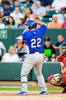 California League All-Star C.J. Retherford #22 of the Rancho Cucamonga Quakes at bat against the Carolina League All-Stars during the 2012 California-Carolina League All-Star Game at BB&T Ballpark on June 19, 2012 in Winston-Salem, North Carolina.  The Carolina League defeated the California League 9-1.  (Brian Westerholt/Four Seam Images)