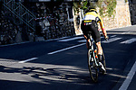 Wout Van Aert (BEL) Team Jumbo-Visma descends the Poggio during the 111th edition of Milan- San Remo 2020, running 305km from Milan to San Remo, Italy. 8th August 2020.<br /> Picture: LaPresse/Fabio Ferrari | Cyclefile<br /> <br /> All photos usage must carry mandatory copyright credit (© Cyclefile | LaPresse/Fabio Ferrari)
