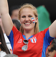 Costa Rica fan.   Honduras defeated Costa Rica in Penalty Kick 4-2 in the quaterfinals for the 2011 CONCACAF Gold Cup , at the New Meadowlands Stadium, Saturday June 18, 2011.