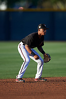 AZL D-backs shortstop Marshawn Taylor (5) during an Arizona League game against the AZL Mariners on July 3, 2019 at Salt River Fields at Talking Stick in Scottsdale, Arizona. The AZL D-backs defeated the AZL Mariners 3-1. (Zachary Lucy/Four Seam Images)