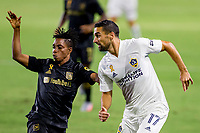 CARSON, CA - SEPTEMBER 06: Sebastian Lletget #17 of the Los Angeles Galaxy moves with the ball during a game between Los Angeles FC and Los Angeles Galaxy at Dignity Health Sports Park on September 06, 2020 in Carson, California.