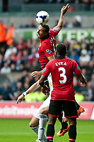 Saturday 17 August 2013<br /> <br /> Pictured: Rio Ferdinand of Manchester United and Patrice Evra of Manchester United<br /> <br /> Re: Barclays Premier League Swansea City v Manchester United at the Liberty Stadium, Swansea, Wales