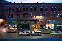 Streets are deserted in the Chinatown-International District during Governor jay Inslee's Stay-at-Home order on March 23, 2020 in Seattle, Washington.
