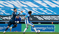 20th February 2021; The John Smiths Stadium, Huddersfield, Yorkshire, England; English Football League Championship Football, Huddersfield Town versus Swansea City; Duane Holmes of Huddersfield Town finishes the first his two goals