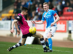 St Johnstone v Dundee…11.03.17     SPFL    McDiarmid Park<br />Brian Easton is tackled by Cammy Kerr<br />Picture by Graeme Hart.<br />Copyright Perthshire Picture Agency<br />Tel: 01738 623350  Mobile: 07990 594431