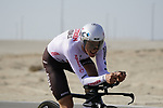 Mathias Frank (SUI) AG2R Citroen Team during Stage 2 of the 2021 UAE Tour an individual time trial running 13km around  Al Hudayriyat Island, Abu Dhabi, UAE. 22nd February 2021.  <br /> Picture: Eoin Clarke | Cyclefile<br /> <br /> All photos usage must carry mandatory copyright credit (© Cyclefile | Eoin Clarke)