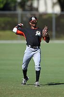 Miami Marlins Omar Artsen (52) before a minor league spring training game against the St. Louis Cardinals on March 31, 2015 at the Roger Dean Complex in Jupiter, Florida.  (Mike Janes/Four Seam Images)