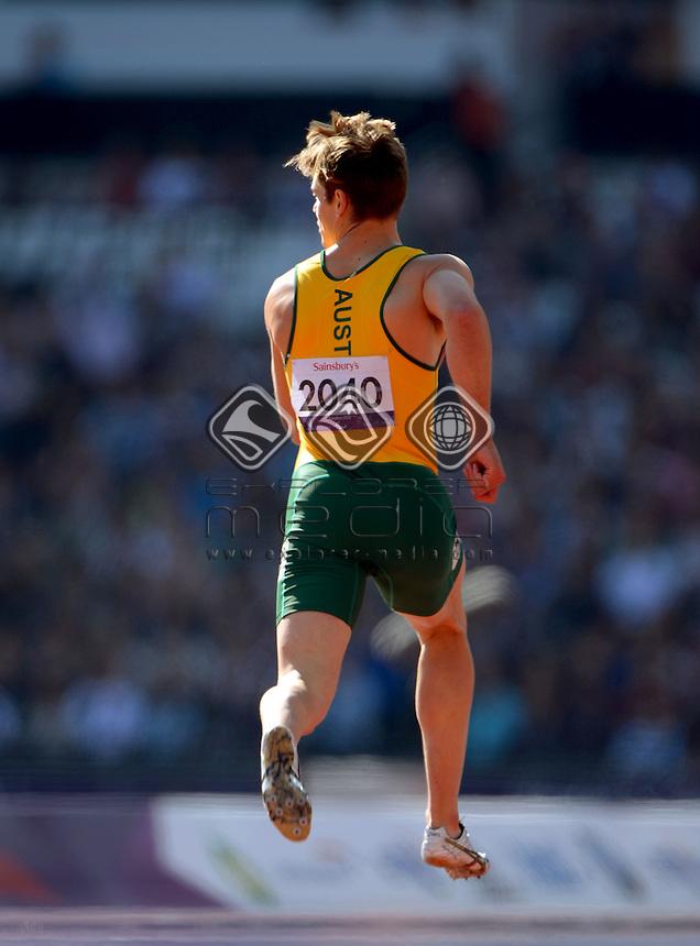 Evan O'Hanlon (AUS) heats<br /> Athletics : Men's 200m T-38<br /> Olympic Stadium (Friday 7 Sept)<br /> Paralympics - Summer / London 2012<br /> London England 29 Aug - 9 Sept <br /> © Sport the library / Jeff Crow