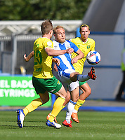 Huddersfield Town's Alex Pritchard battles for the ball<br /> <br /> Photographer Dave Howarth/CameraSport<br /> <br /> The EFL Sky Bet Championship - Huddersfield Town v Norwich - Saturday September 12th 2020 - The John Smith's Stadium - Huddersfield<br /> <br /> World Copyright © 2020 CameraSport. All rights reserved. 43 Linden Ave. Countesthorpe. Leicester. England. LE8 5PG - Tel: +44 (0) 116 277 4147 - admin@camerasport.com - www.camerasport.com