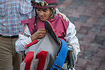 Luis Saez at Gulfstream, scenes from Gulfstream Park, Hallandale Beach Florida. 01-11-2014
