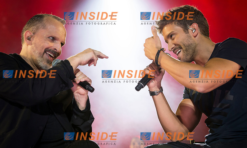 Spanish Singer Miguel Bose in collaboration with singer Pablo Alboran during the first stop of his tour 'Estare'' at Wizink Center in Madrid, June 23, 2017. Spain.<br /> (ALTERPHOTOS/BorjaB.Hojas/Insidefoto)<br /> Foto Alterphotos/Insidefoto