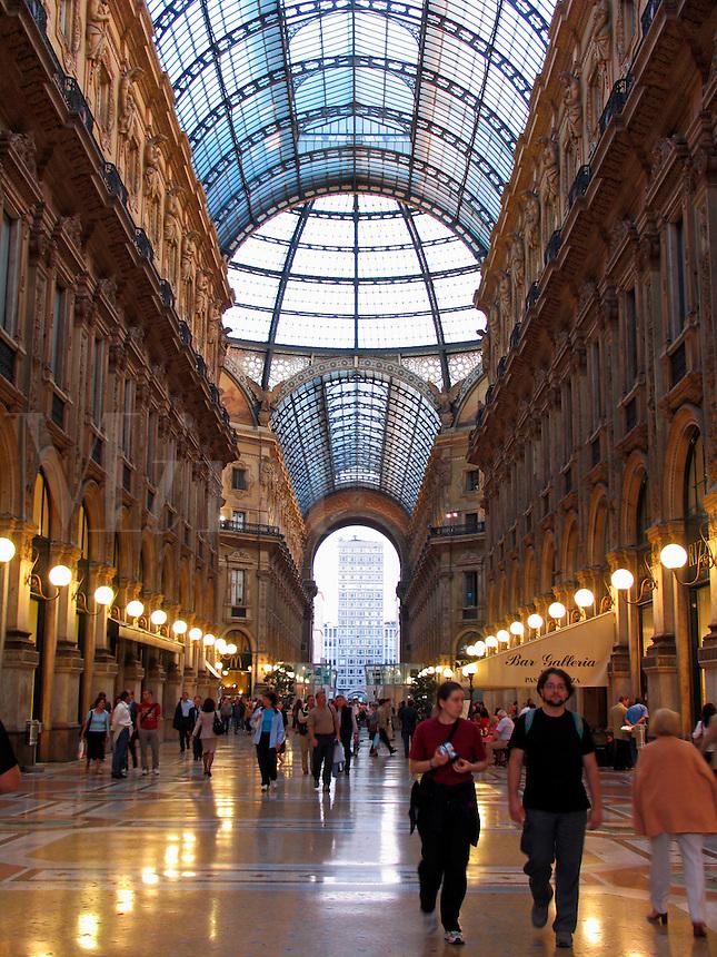 People in the Galleria Vittorio Emanuele, il Salotto di Milano, Milan, Ital