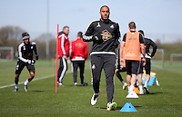 Ashley Williams during the Swansea City FC training at Fairwood, Swansea, Wales, UK on Wednesday 04 May 2016