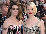"""Anne Hathaway anf Mia Wasikowska attends The Premiere Of Disney's """"Alice Through The Looking Glass"""" held at The El Capitan Theatre  in Hollywood, California on May 23,2016                                                                               © 2016 Hollywood Press Agency"""