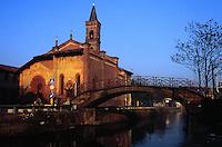 """- antica chiesa di S.Cristoforo sul Naviglio....- ancient church of S.Cristoforo on the """"Naviglio"""" channel"""