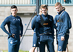 St Johnstone Training….15.09.17<br />Steven MacLean pictured during training this morning at McDiarmid Park ahead of tomorrow's game at Dundee alongside Michael O'Halloran and Brian Easton<br />Picture by Graeme Hart.<br />Copyright Perthshire Picture Agency<br />Tel: 01738 623350  Mobile: 07990 594431