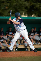 Lasell Lasers Dom Mascolo (33) at bat during the first game of a doubleheader against the Edgewood Eagles on March 14, 2016 at Terry Park in Fort Myers, Florida.  Edgewood defeated Lasell 9-7.  (Mike Janes/Four Seam Images)
