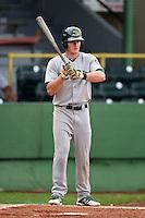 Beloit Snappers third baseman Matt Chapman (7) at bat during a game against the Clinton LumberKings on August 17, 2014 at Ashford University Field in Clinton, Iowa.  Clinton defeated Beloit 4-3.  (Mike Janes/Four Seam Images)